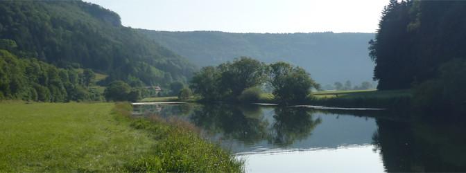 Kanutour im Donautal